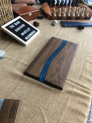 Resin Walnut Charcuterie board