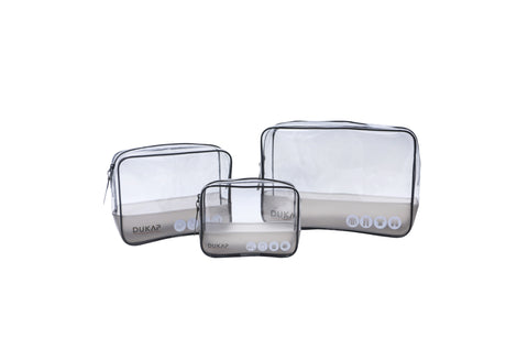 Clear Waterproof Packing Cubes - 3 Piece Set