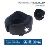Memory Foam Travel Pillow with 360 Head and Neck Support
