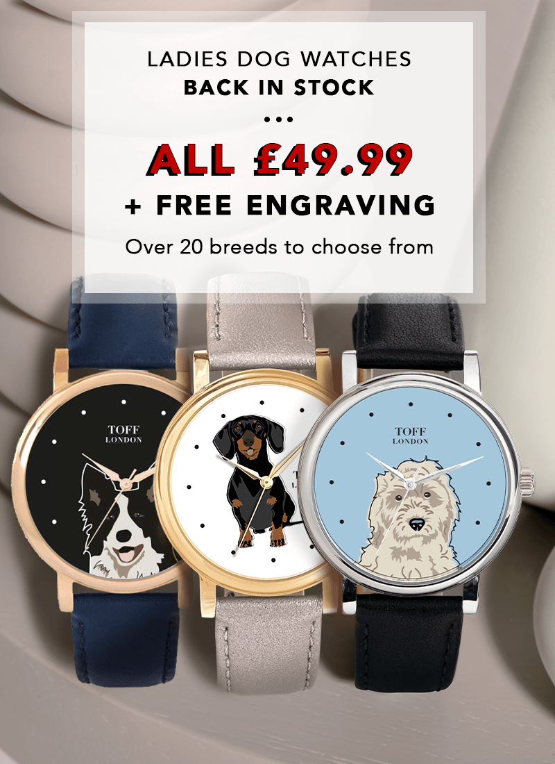 dogs ladies' watches