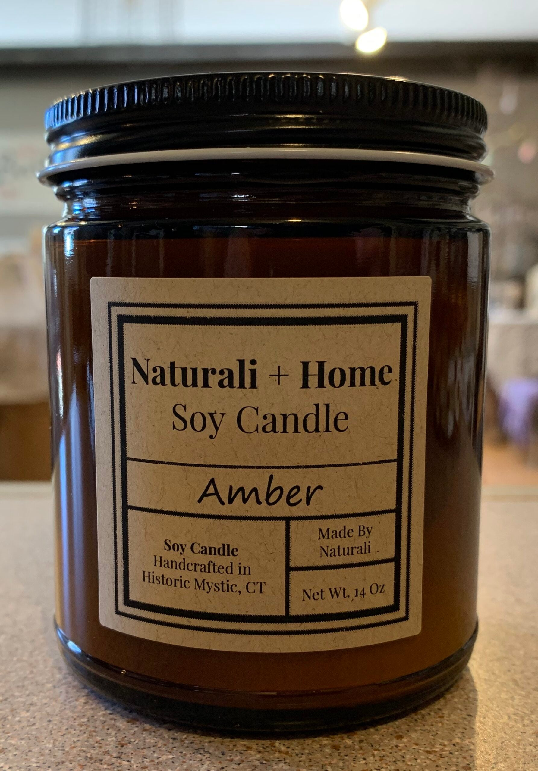 Amber Soy Candle - Naturali Home