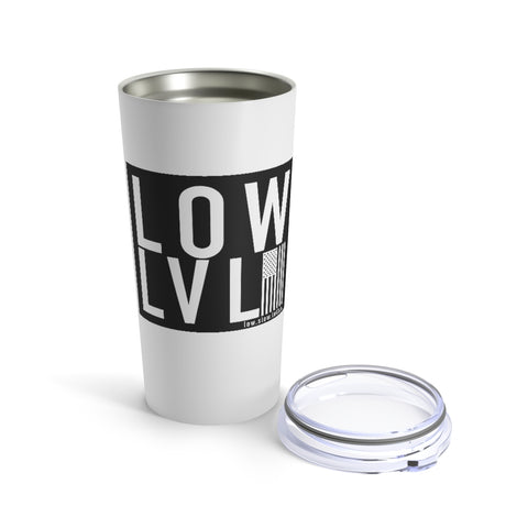 Team LOWLVL White Tumbler (20oz)