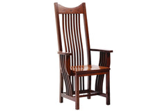 New Classic Mission Formal Arm Chair in Quarter-Sawn White Oak with Classic White Oak Finish