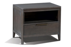 Divi Night Stand in Flannel Finish