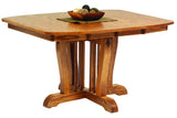 New Classic Mission Single Pedestal Dining Table in Red Oak with Classic Red Oak Finish