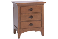 Great Lakes 3-Drawer Nightstand