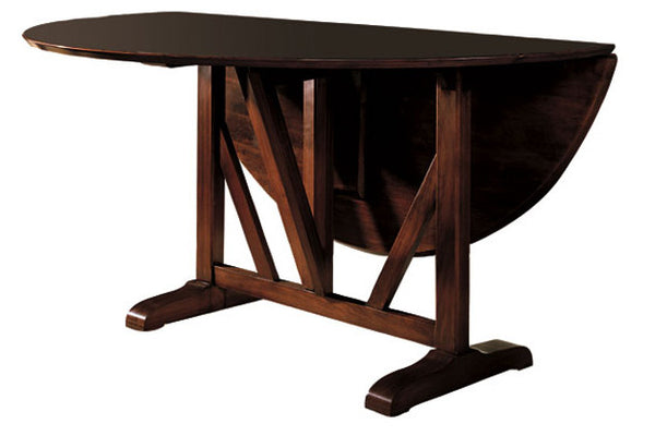 York Drop Lead Dining Table in Fine Brandywine Finish