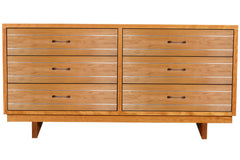 Cable Crossing 6-drawer 70-inch dresser in Cherry
