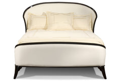 Luna Upholstered Bed in Bordeaux Finish
