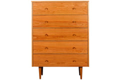 Asher 5-drawer Chest in Cherry with Natural Finish