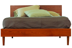 Asher Queen Bed in Cherry with Natural Finish