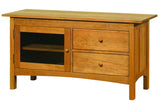 Heartwood Media Console with Two Drawers and Squared Edges in Cherry