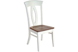 Bay Harbour side chair in Oak with Vintage Lace frame and Auburn seat