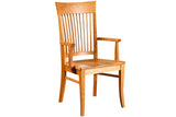 Bedford Classic Arm Dining Chair in Cherry with Natural Finish