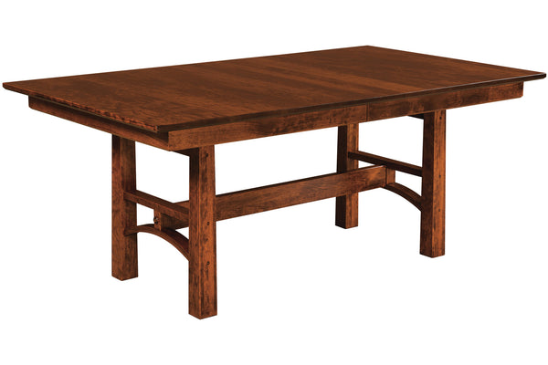 Brentwood Table in Rustic Cherry with Black Cherry Finish
