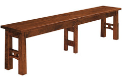 Brentwood bench in Rustic Cherry with Black Cherry Finish
