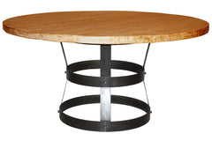 Basket Dining Table in Medium Brown Wax Finish