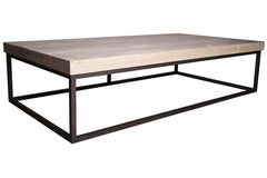Marin Coffee Table with Gray Wash Wax Finish