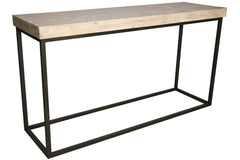 Marin Console Table with Gray Wash Wax Finish