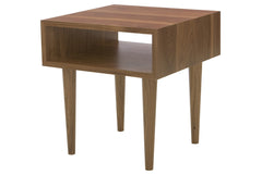 Classic Side Table in Walnut with 12-inch Legs