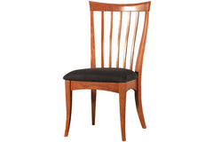 Copley Dining Chair in Cherry with Black Fabric Seat