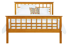 Vermont Craftsman Bed with High Footboard in Cherry