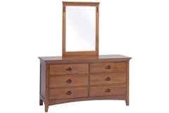 Great Lakes 6-Drawer Dresser with Portrait Mirror