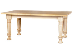 East Warren Farm Table with Natural Base and Honey Oak Top