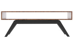 Elko Coffee Table with Bamboo Top and Black Steel Base