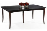 English Shaker Dining Table in Brown Maple with Espresso Finish (available separately)