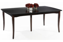 English Shaker Dining Table in Brown Maple with Espresso Finish