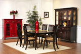English Shaker Dining Set in Brown Maple with Espresso Finish