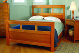 Franklin Bedroom Set in Cherry with Natural Finish