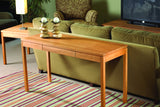 Franklin End Table in Cherry with Natural Finish and Matching Console Table
