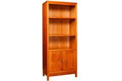 Franklin Stereo Bookcase in Cherry with Natural Finish