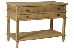 2-Drawer Washed Oak Nightstand