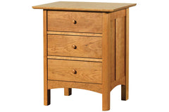 Heartwood Bedside Table with Three Drawers in Cherry