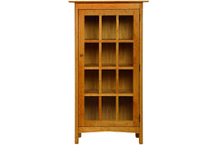 Heartwood Bookcase with One Door in Cherry