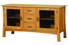 61-inch Wide Configuration in Cherry with Walnut Pulls