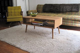 32-Inch Mid-Century Coffee Table in White Oak