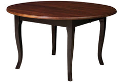 Kensington Dining Table in Maple with Black Base and Cappuccino Top Finish