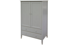 40-inch wide Bead Board Armoire in Custom Gray