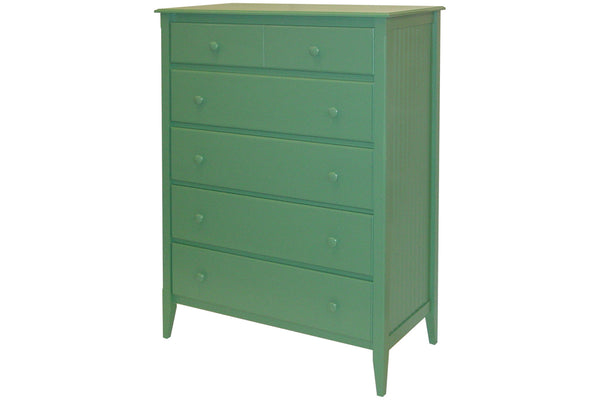 5-drawer Wide Chest in Custom Green - call to inquire