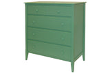 4-drawer Wide Chest in Custom Green - call to inquire