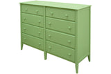 8-drawer Dresser in Apple Green