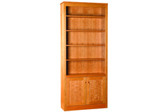 Linden 84-inch bookcase in Cherry with Natural Finish