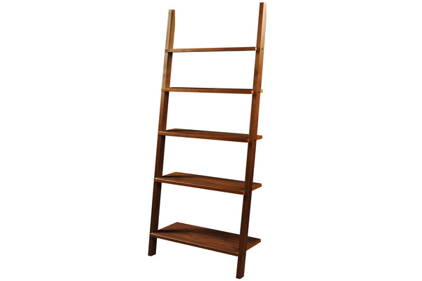 Linden Leaning Bookcase in Cherry with Natural Finish