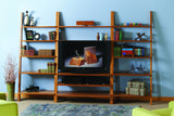 The Linden Leaning Bookcase May Be Combined with the Linden Leaning Media Console to Form Beautiful, Simple Entertainment Center