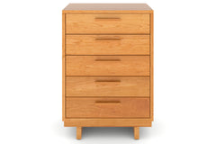 Loft 5-Drawer Wide Chest in Cherry