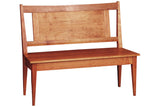High Back Shaker Bench in Cherry